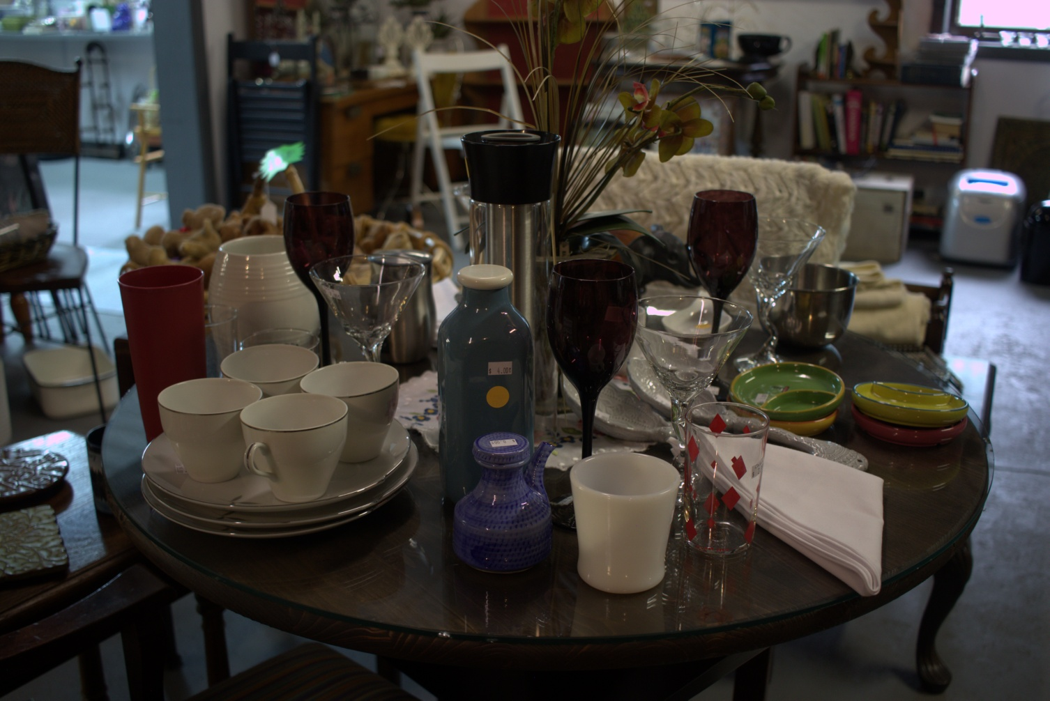 vintage glassware found at this detroit lakes consignments store